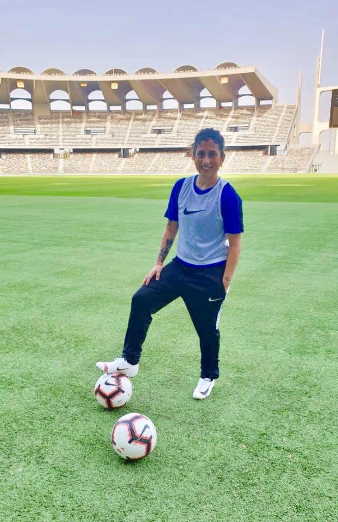 Female soccer player who fell in love at six