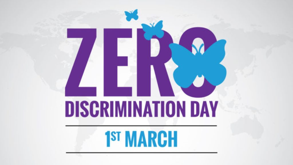 Let's think of relegated persons as  we mark Zero Discrimination Day
