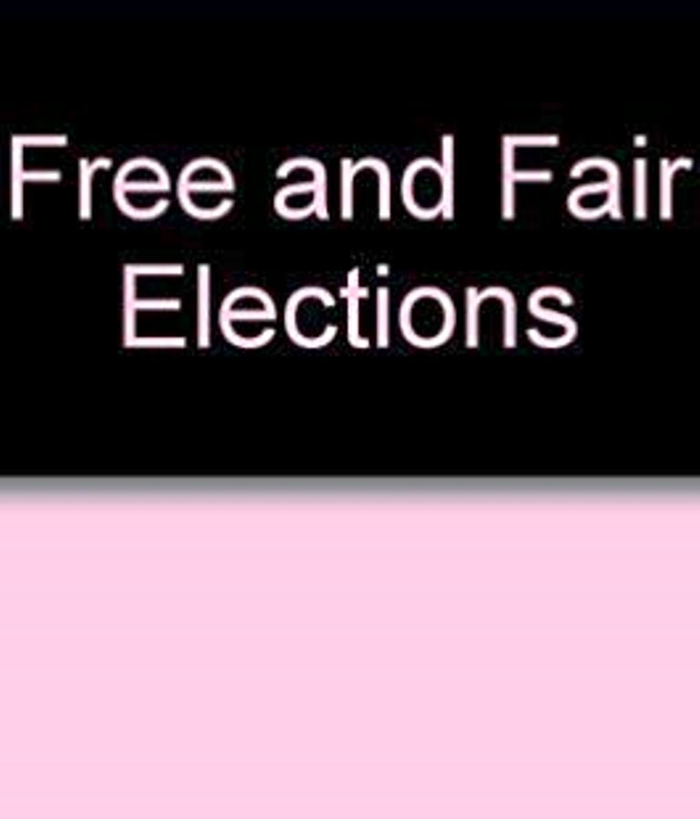 JPM's assurance of free and fair elections is firm