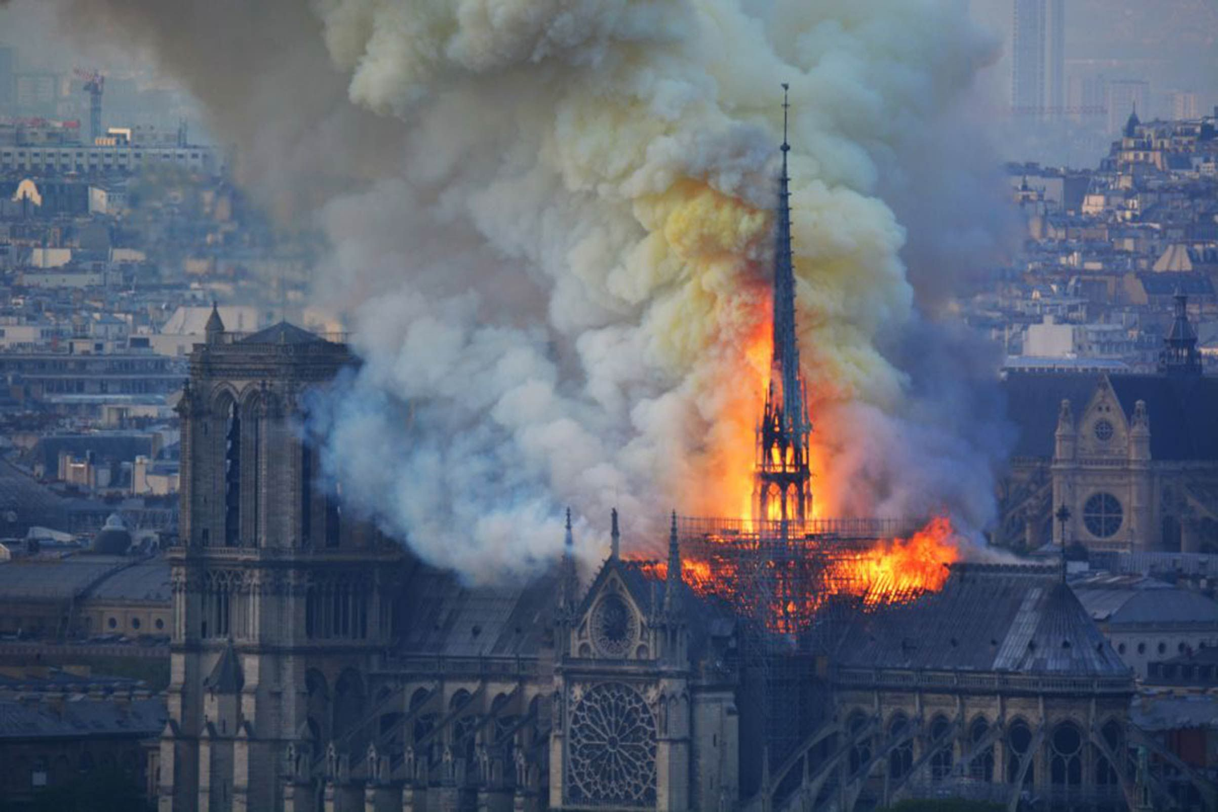 Fire engulfs Paris' 850-year-old Notre-Dame Cathedral