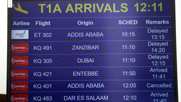 New updates: All Ethiopian Airlines Boeing 737 passengers enroute to Nairobi feared dead.