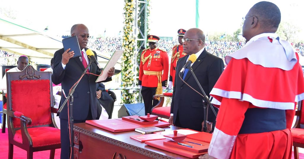 Letter of congratulation to Dr John Magufuli on Inauguration held on 5th Nov 2020
