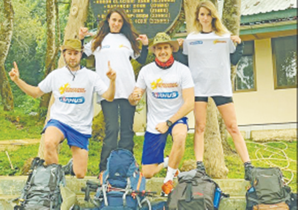 French group taking Trophy to Mount Kilimanjaro